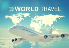 World Travel header Royalty Free Stock Photos