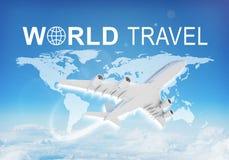 World Travel header Stock Images