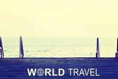 World Travel header Royalty Free Stock Photos