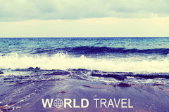 World Travel header Royalty Free Stock Photography