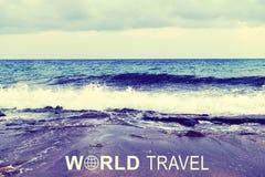 World Travel header Royalty Free Stock Photography
