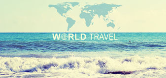 World Travel header Royalty Free Stock Photo
