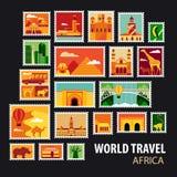 World Travel Iconos fijados Imagen de archivo libre de regalías