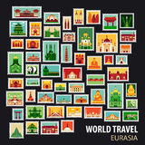 World Travel. Icons set. Royalty Free Stock Photo