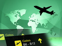 World Travel Indicates Journey Globalise And Flight Stock Image