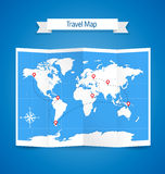 World Travel Map Royalty Free Stock Photography