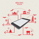 World travel mobile Royalty Free Stock Image