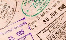 World travel passport. Stamps and visas Stock Photo