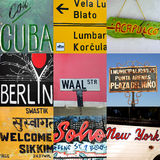 World travel signs Royalty Free Stock Image