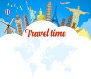 World Travel Vacaciones de verano del planeamiento Fotos de archivo