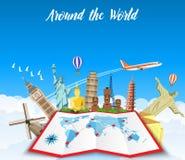 World Travel Vacaciones de verano del planeamiento Imagenes de archivo