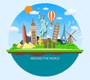 World Travel Vacaciones de verano del planeamiento Fotografía de archivo