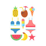 World Travel. Vacations. Summer holiday. Tourism and vacation icons theme. Stock Image
