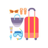World Travel. Vacations. Summer holiday. Tourism and vacation icons theme. Stock Photo