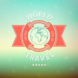 World travel. Vector red banner Stock Images