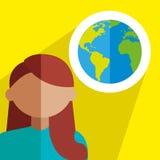 World,travel, women design Royalty Free Stock Photography