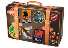 World traveler suitcase Royalty Free Stock Image