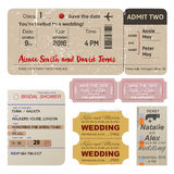 World traveler tickets collection Stock Image