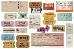 World traveller tickets collection Stock Image