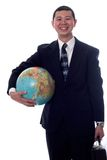 World travler. Young asian businessman ready to see the world Royalty Free Stock Photo