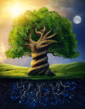 World tree royalty free illustration