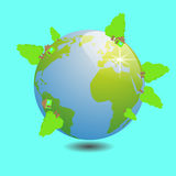 World with tree illustration vector work Royalty Free Stock Image