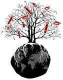 World tree war Royalty Free Stock Photo