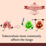 World tuberculosis day cartoon design illustration 05 Stock Image