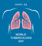 World tuberculosis day 24 march. Human lungs Stock Image