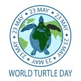 World Turtle Day concept. World Turtle Day 23 May background. Vector illustration Stock Photo