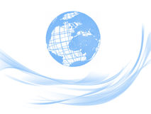 World universe. Blue World global worldwide with white background stock illustration