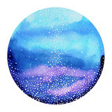 World, universe watercolor painting background hand drawn Royalty Free Stock Images