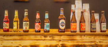 World variety of  tequila beers Stock Photo