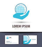 World vector logo design template. planet or globe Royalty Free Stock Images