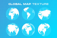 World vector map globe Earth texture Royalty Free Stock Images
