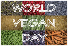 World vegan day. Celebrating october 1 Royalty Free Stock Image