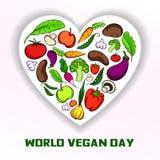 World vegan day concept background, cartoon style. World vegan day concept background. Cartoon illustration of world vegan day vector concept background for web royalty free illustration