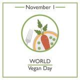 World Vegan Day. November 1 Stock Images