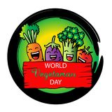 World vegetarian day Stock Image