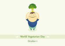 World Vegetarian Day vector Stock Photography