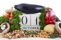 World Vegetarian Day vegetables, nuts and legumes. Stock Images