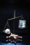 World versus money Stock Photo