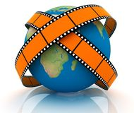 World Of Video. 3D rendered. Isolated on white. World Of Video Royalty Free Stock Photo