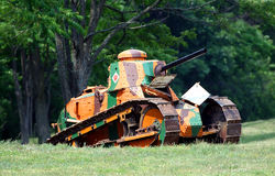 World War 1 Renault Tank Stock Photo