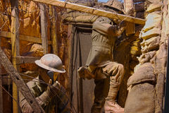 World war 1 soldiers. At the Australian museum Stock Photography