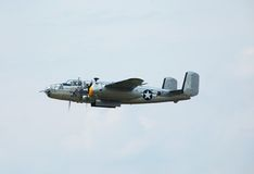 World War 2 bomber. Vintage Boeing B-25 Mitchell bomber. Pictured at an airshow Stock Photography