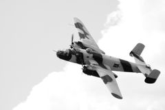 World war 2 bomber at airshow Stock Photography