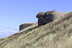 World War 2 Bunkers Royalty Free Stock Photography