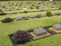World War 2 Cemetary. For Allied prisoners of war in Kanchanaburi, Thailand Stock Image