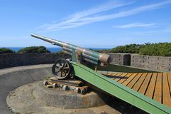 World War 2 German Gun on Jersey Stock Image